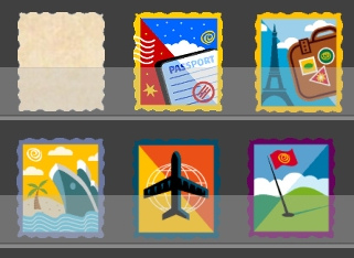 Travel Stamps Card Set Preview